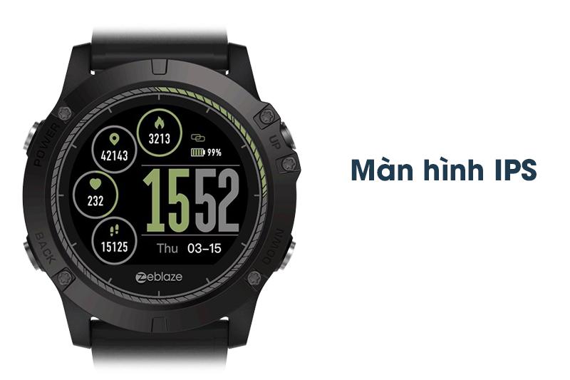 màn hình của Đồng hồ thông minh Zeblaze VIBE 3 HR Đen