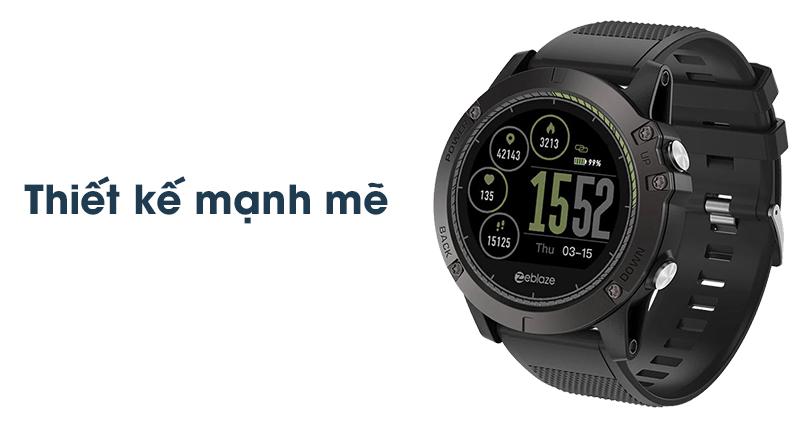 Thiết kế của Đồng hồ thông minh Zeblaze VIBE 3 HR Đen