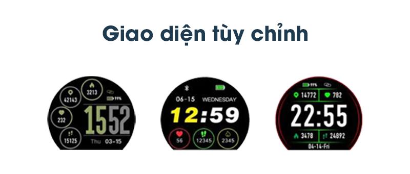 Giao diện của Đồng hồ thông minh Zeblaze VIBE 3 HR Đen