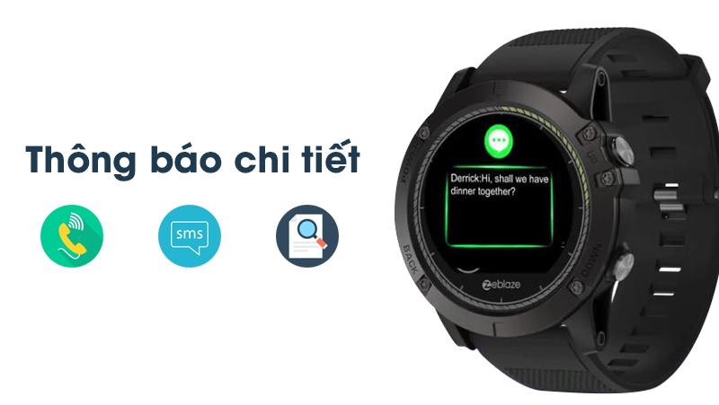 Thông báo chi tiết của Đồng hồ thông minh Zeblaze VIBE 3 HR Đen