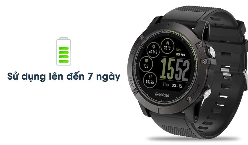 Dung lượng pin của Đồng hồ thông minh Zeblaze VIBE 3 HR Đen