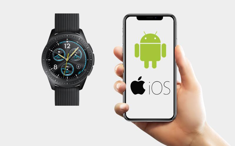 Đồng hồ thông minh Samsung Galaxy Watch 42mm tương thích nhiều điện thoại