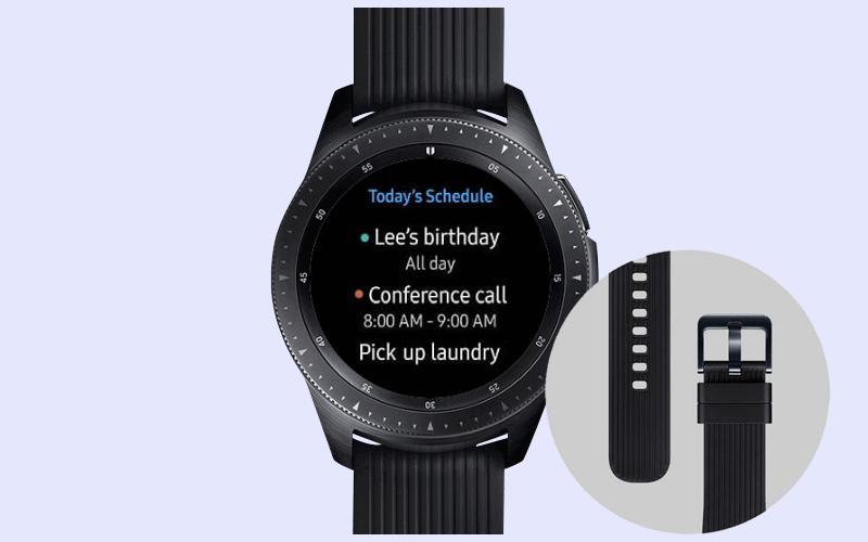 Đồng hồ thông minh Samsung Galaxy Watch 42mm với dây đeo silicone tháo rời