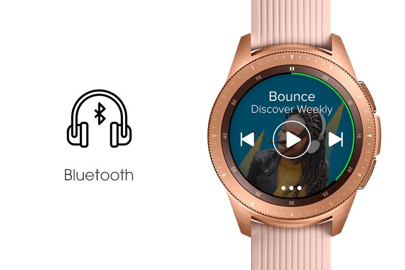 Thưởng thức âm nhạc trên Samsung Galaxy Watch 42mm Rose Gold