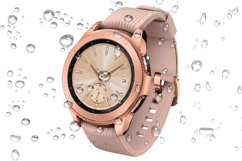 Chuẩn kháng nước IP68 trên Samsung Galaxy Watch 42mm Rose Gold