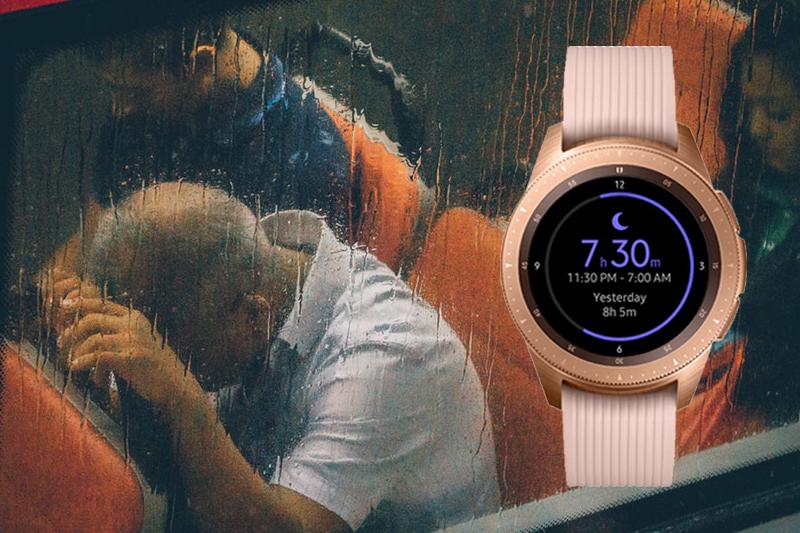 Samsung Galaxy Watch 42mm Rose Gold cảnh báo mức độ căng thẳng