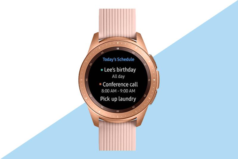 Samsung Galaxy Watch 42mm Rose Gold hiển thị thông tin chi tiết