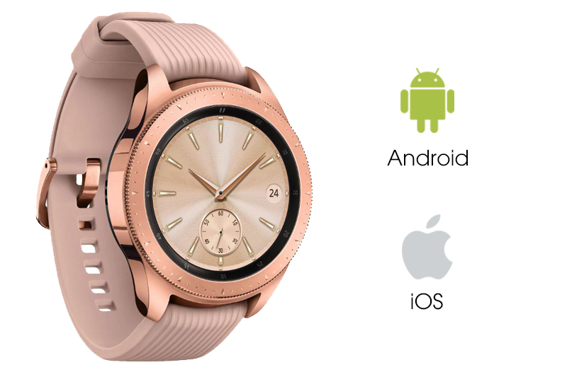 Samsung Galaxy Watch 42mm Rose Gold tương thích với nhiều điện thoại