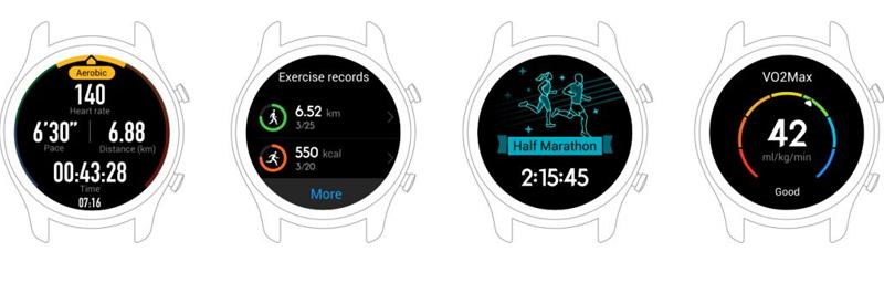 Huawei Watch GT có cảm biền đo nhịp tim chính xác
