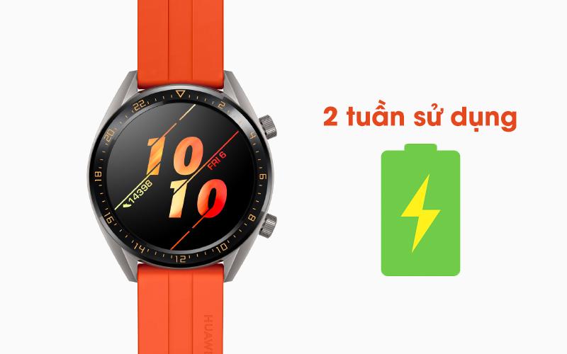 Pin khủng của Huawei Watch GT màu cam