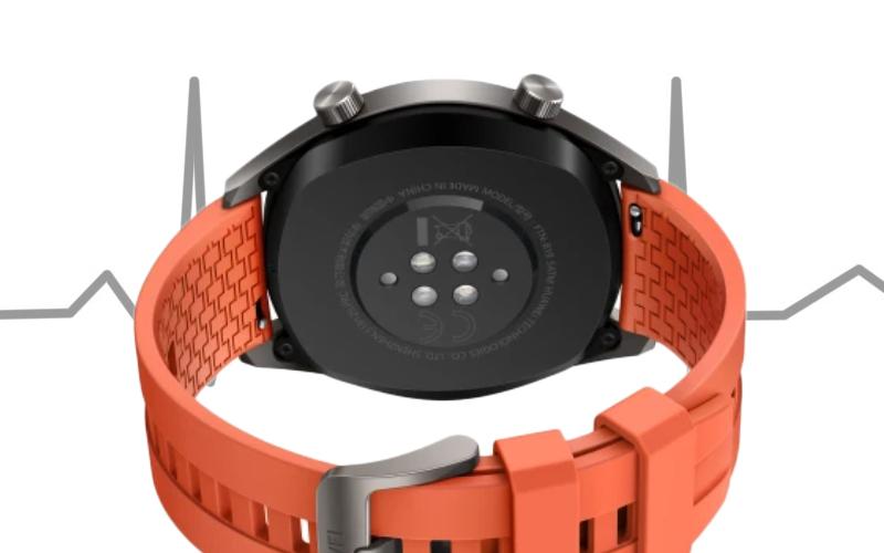 Huawei Watch GT màu cam đo nhịp tim