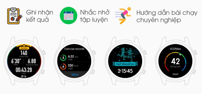 Tính năng luyện tập Huawei Watch GT màu cam