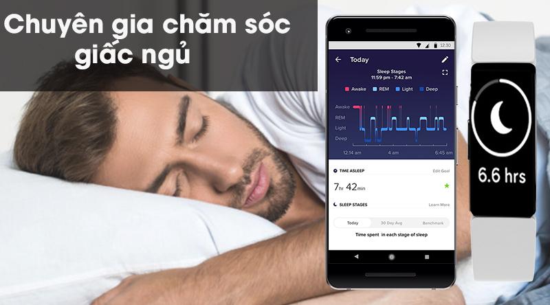 Vòng đeo thông minh Fitbit Inspire HR theo dõi giấc ngủ
