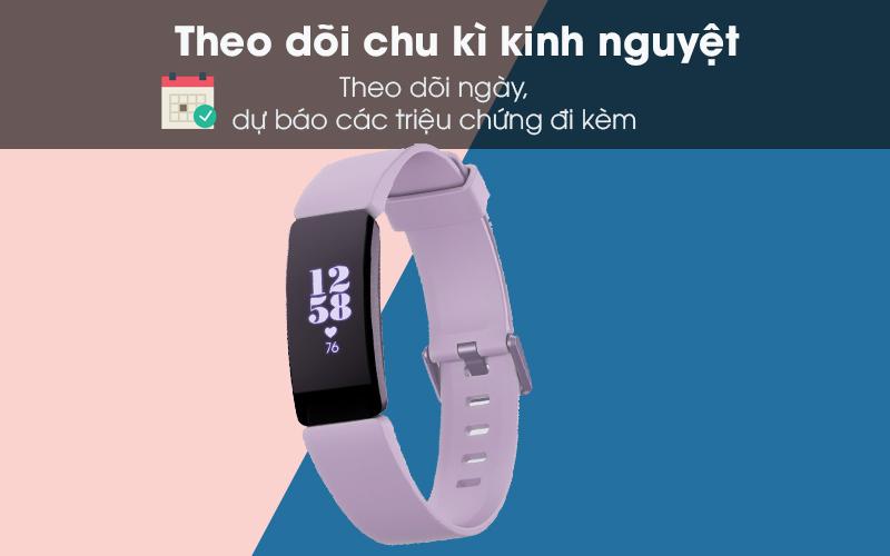 Vòng đeo thông minh Fitbit Inspire HR theo dõi chu kì kinh nguyệt