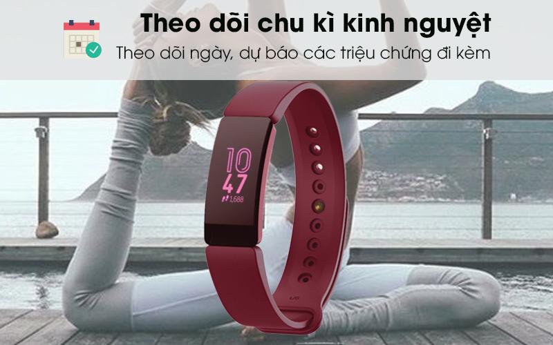 Vòng đeo thông minh Fitbit Inspire chu kì kinh nguyệt