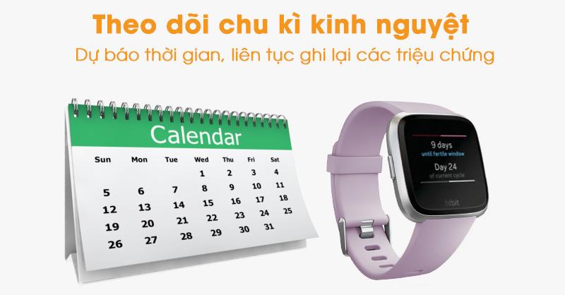 Theo dõi kinh nguyệt Vòng tay thông minh Fitbit Versa Lite