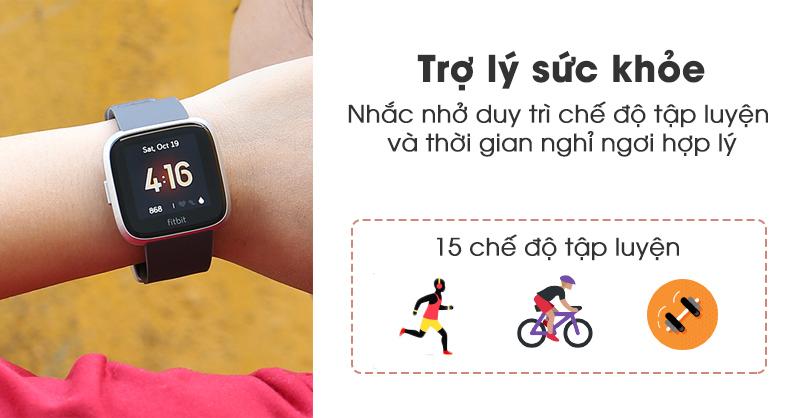Fitbit Versa Lite có trợ lý sức khỏe