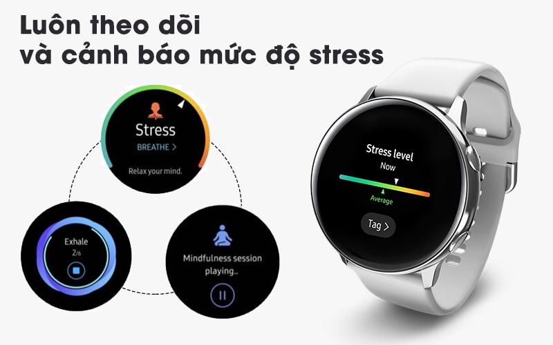 Tính năng theo dõi stress Samsung Galaxy Watch Active