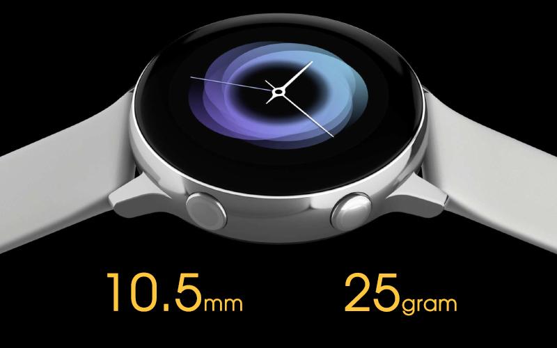 Samsung Galaxy Watch Active siêu mỏng và nhẹ