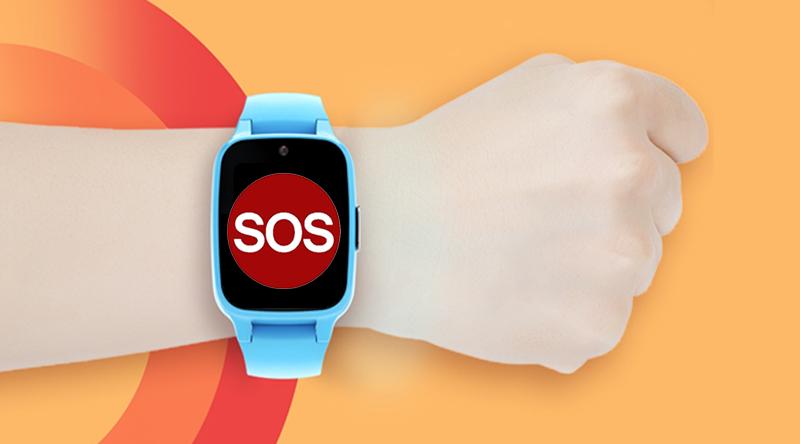 Đồng hồ thông minh Masstel Super Hero Xanh Dương có tính năng gọi khẩn cấp
