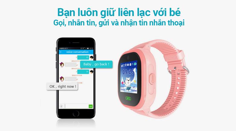 Đồng hồ thông minh trẻ em Kidcare 06S giúp luôn kết nối với bé