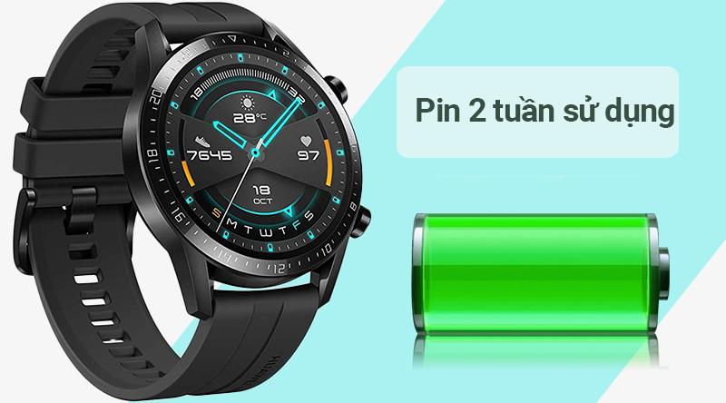 Đồng hồ thông minh Huawei Watch GT2 với thời lượng pin khủng