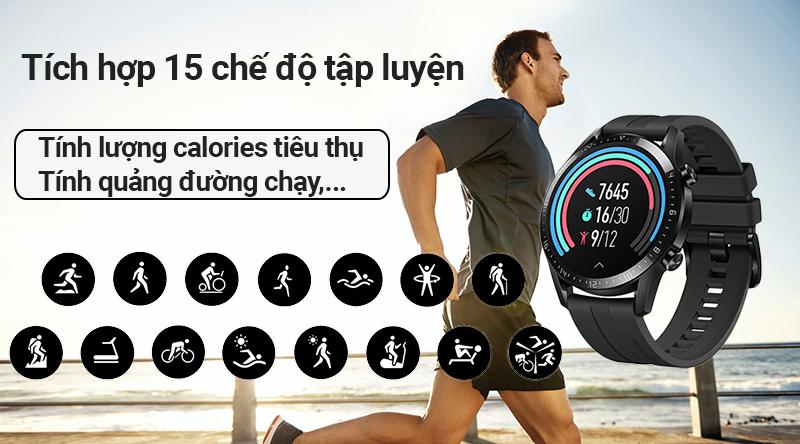 Đồng hồ thông minh Huawei Watch GT2 hỗ trợ tập thể thao