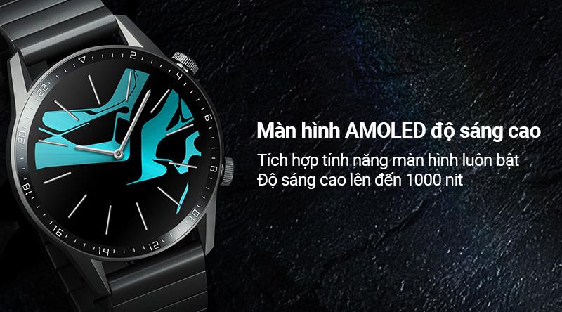 Smartwatch Huawei Watch GT 2 dây kim loại - Màn hình