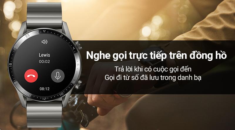 Smartwatch Huawei Watch GT 2 dây kim loại - Nghe gọi