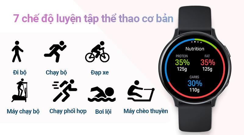 Đồng hồ thông minh Samsung Galaxy Watch Active 2 với 7 chế độ tập luyện