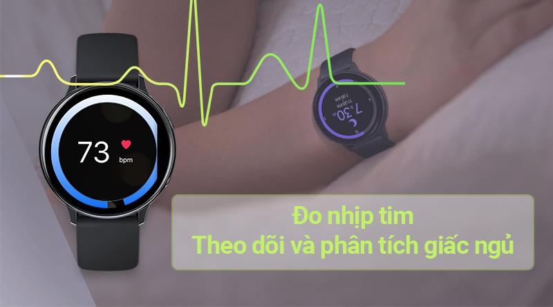 Đồng hồ thông minh Samsung Galaxy Watch Active 2 đo nhịp tim, theo dõi giấc ngủ