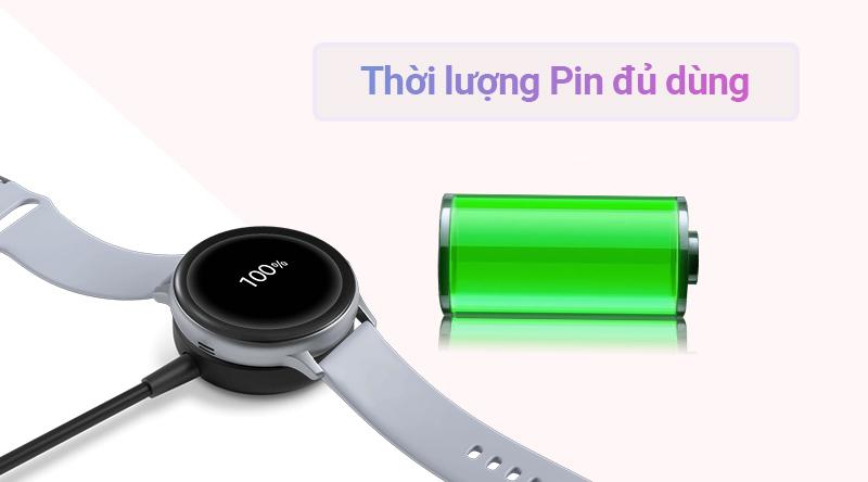 Đồng hồ thông minh Samsung Galaxy Watch Active 2 sạc pin tiện lợi