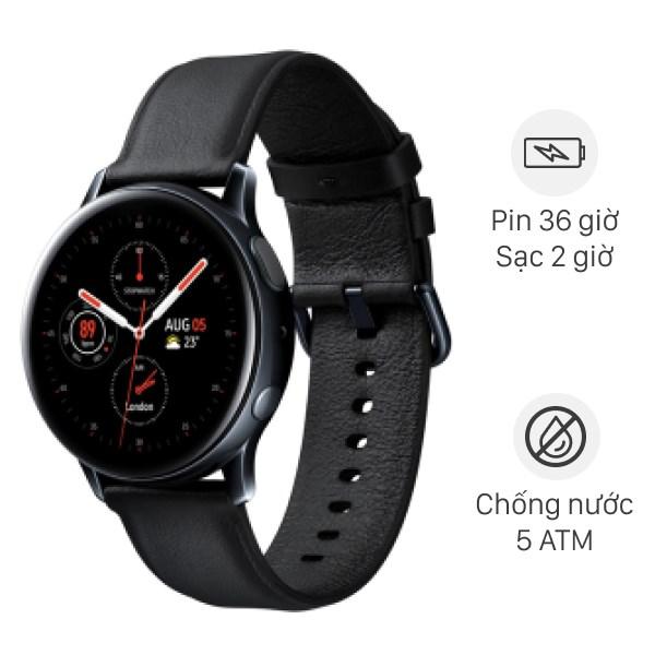 Samsung Galaxy Watch Active 2 44mm viền thép dây da