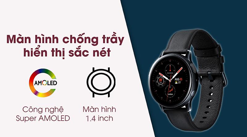 Đồng hồ thông minh Samsung Galaxy Watch Active 2 hiển thị rõ, sắc nét