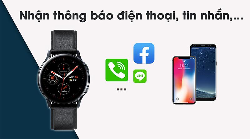 Đồng hồ thông minh Samsung Galaxy Watch Active 2 cho phép nghe gọi