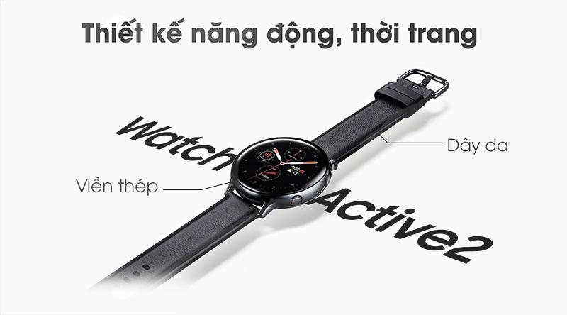 Đồng hồ thông minh Samsung Galaxy Watch Active 2 thiết kế năng động, thời trang