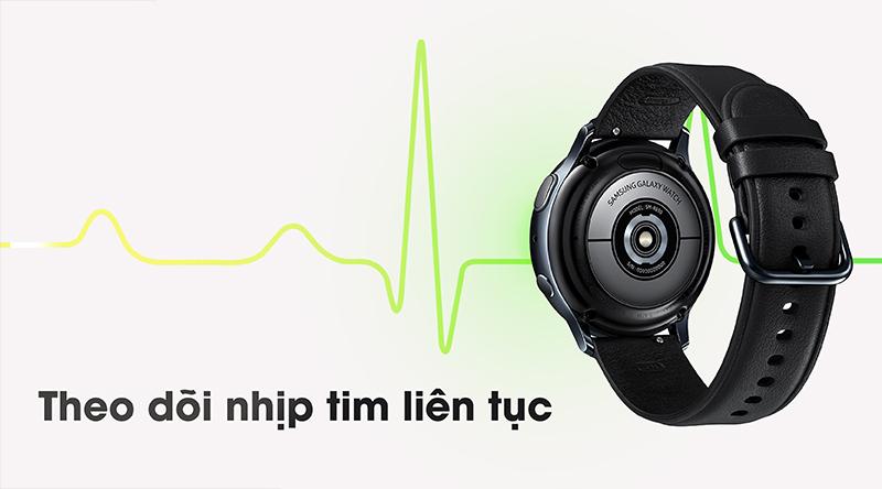 Đồng hồ thông minh Samsung Galaxy Watch Active 2 theo dõi nhịp tim liên tục