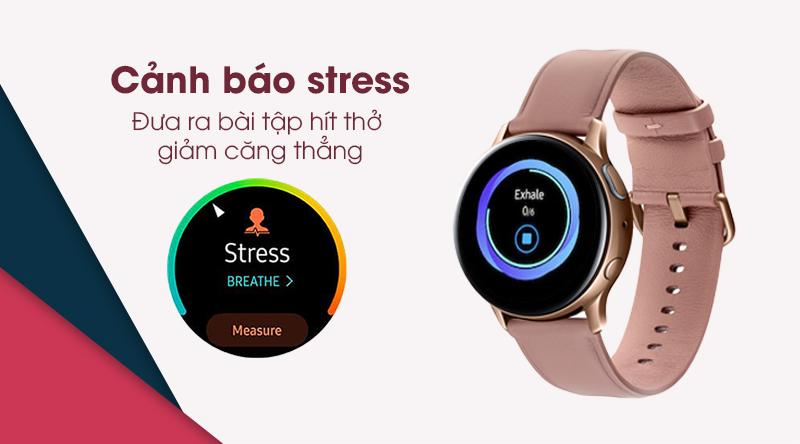 Đồng hồ thông minh Samsung Galaxy Watch Active 2 cảnh báo căng thẳng
