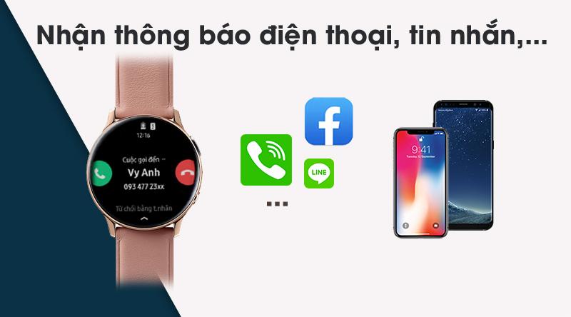 Đồng hồ thông minh Samsung Galaxy Watch Active 2 luôn kết nối với điện thoại