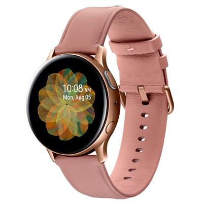 Đồng hồ thông minh Samsung Galaxy Watch Active 2 40mm viền thép dây da