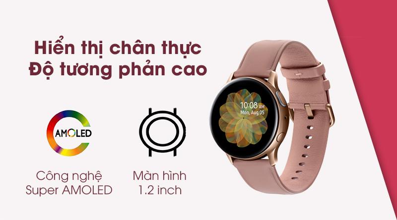 Đồng hồ thông minh Samsung Galaxy Watch Active 2 hiển thị sắc nét