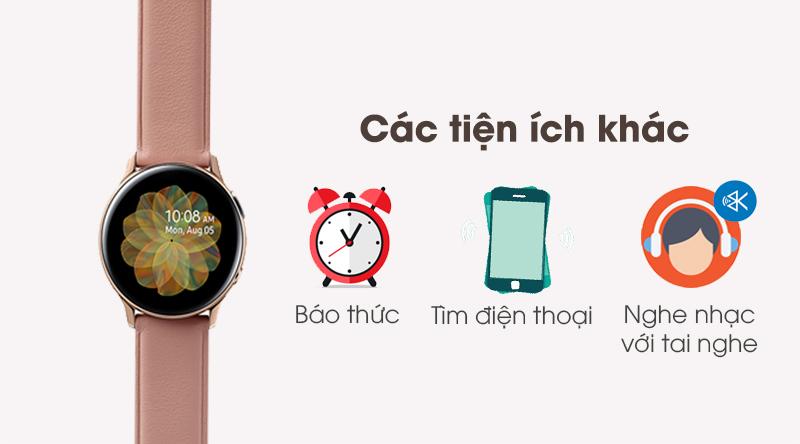 Các tiện ích khác trên đồng hồ thông minh Samsung Galaxy Watch Active 2