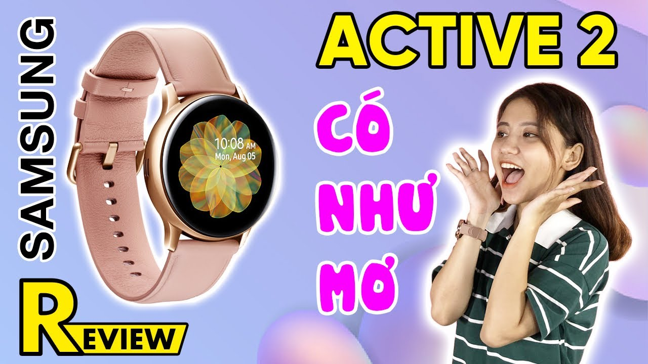 Samsung Galaxy Watch Active 2 40mm viền nhôm dây silicone