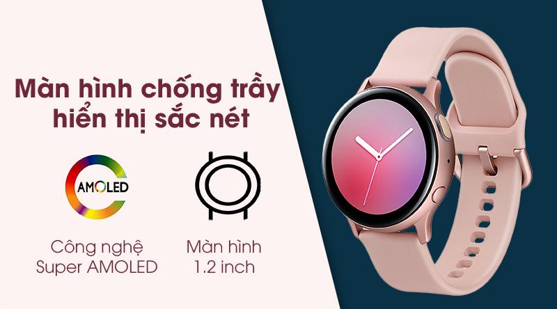 Đồng hồ thông minh Samsung Galaxy Watch Active 2 hiển thị rõ nét