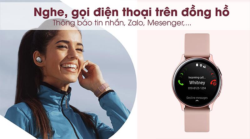 Nghe điện thoại trên đồng hồ thông minh Samsung Galaxy Watch Active 2