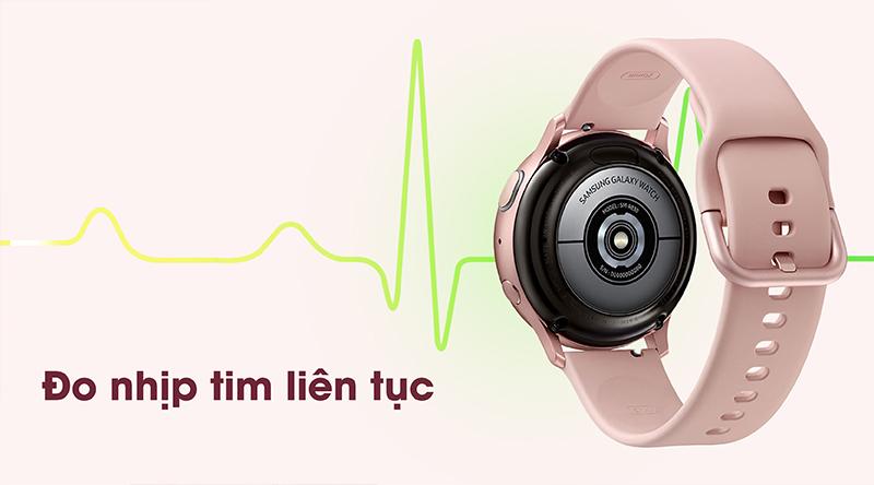 Đồng hồ thông minh Samsung Galaxy Watch Active 2 đo nhịp tim liên tục