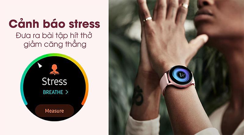 Đồng hồ thông minh Samsung Galaxy Watch Active 2 cảnh báo stress