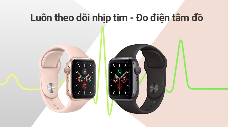 Apple Watch S5 đo nhịp tim 24/7