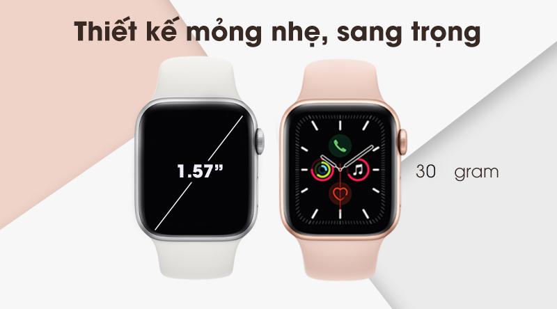 Apple Watch S5 sang trọng, gọn nhẹ