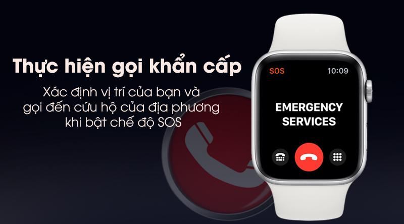 Apple Watch S5 Apple Watch S5 thực hiện cuộc gọi khẩn cấp